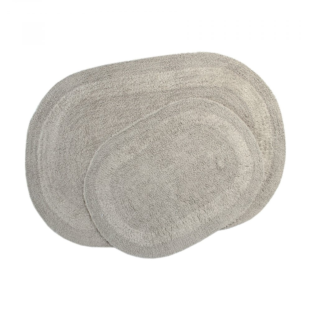 Набор ковриков Irya - Rica gri серый 60*90+40*60
