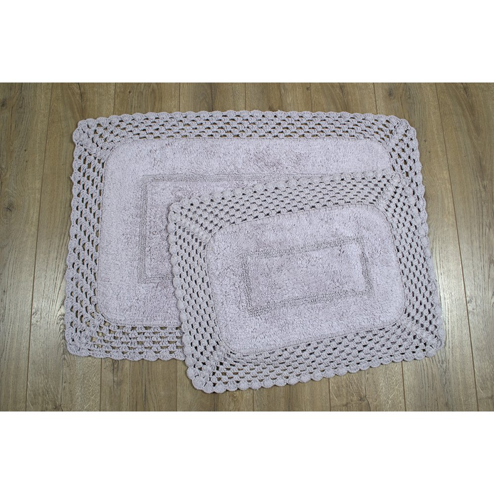 Набор ковриков Irya - Lizz lila лиловый 70*100+45*65