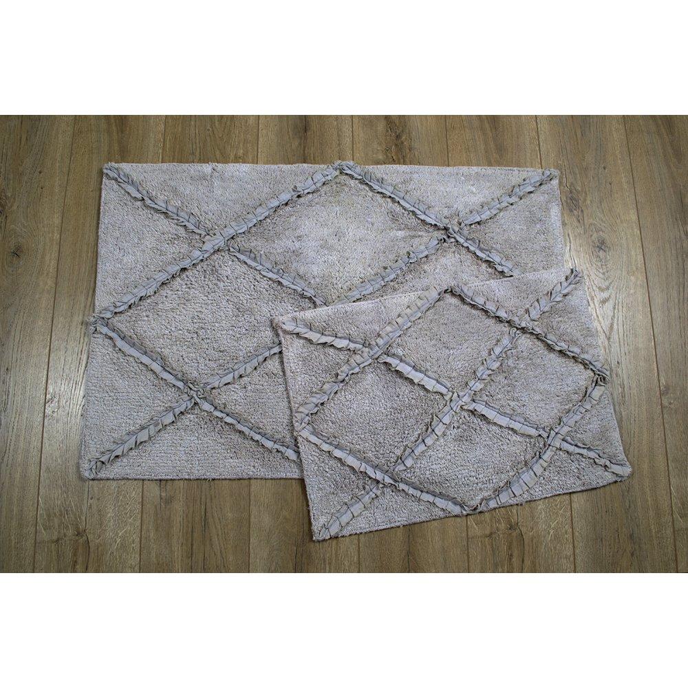 Набор ковриков Irya - Nadia gri серый 60*90+40*60