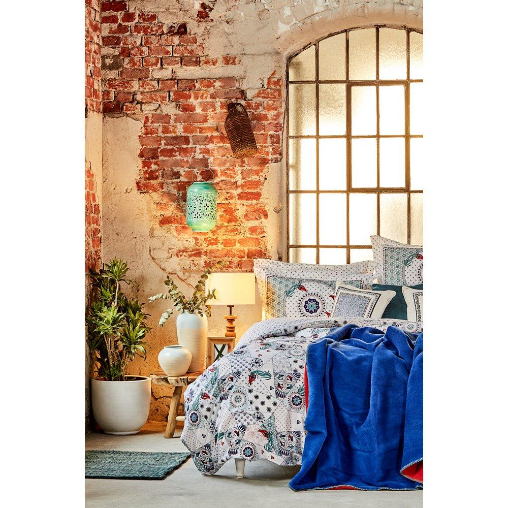 Набор постельное белье с покрывалом Karaca Home - Aybala bordo 2020-2 бордовый евро