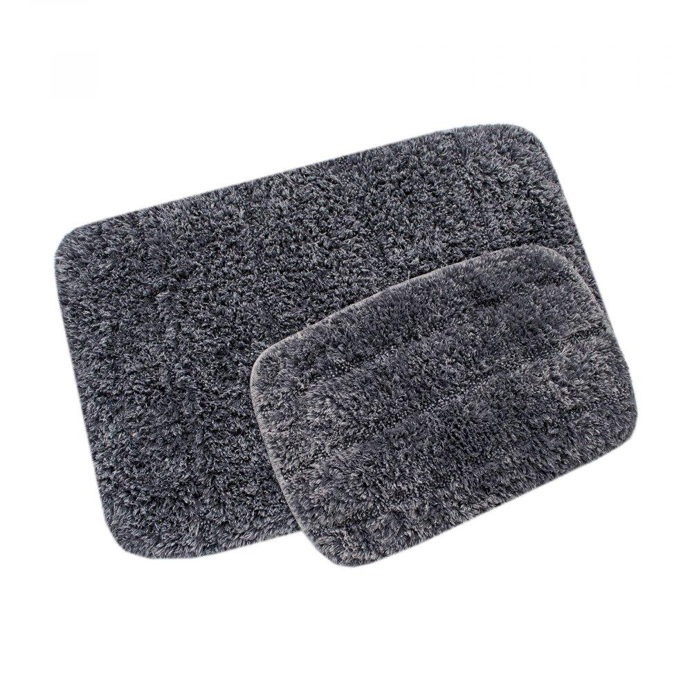 Набор ковриков Irya - Clay gri (Taslama) серый 60*90+40*60