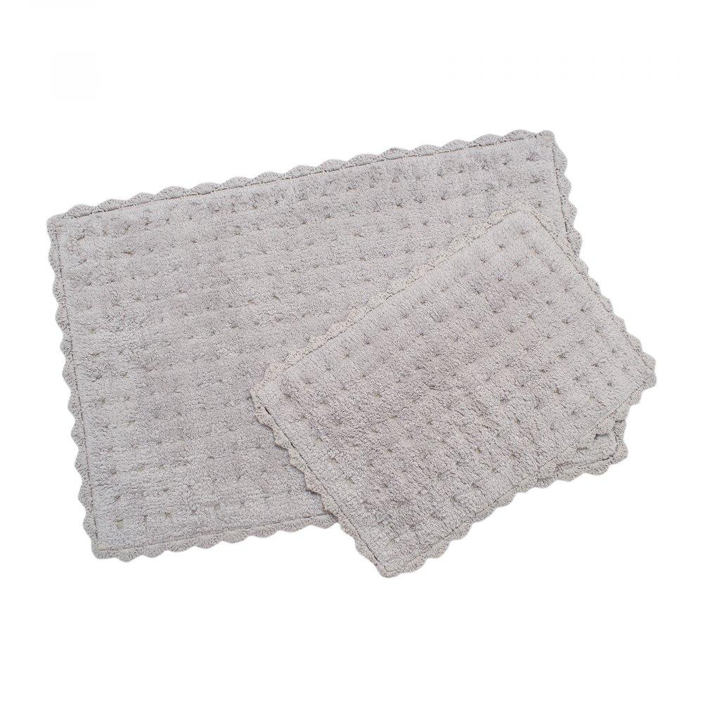Набор ковриков Irya - Garnet gri серый 55*85+35*55