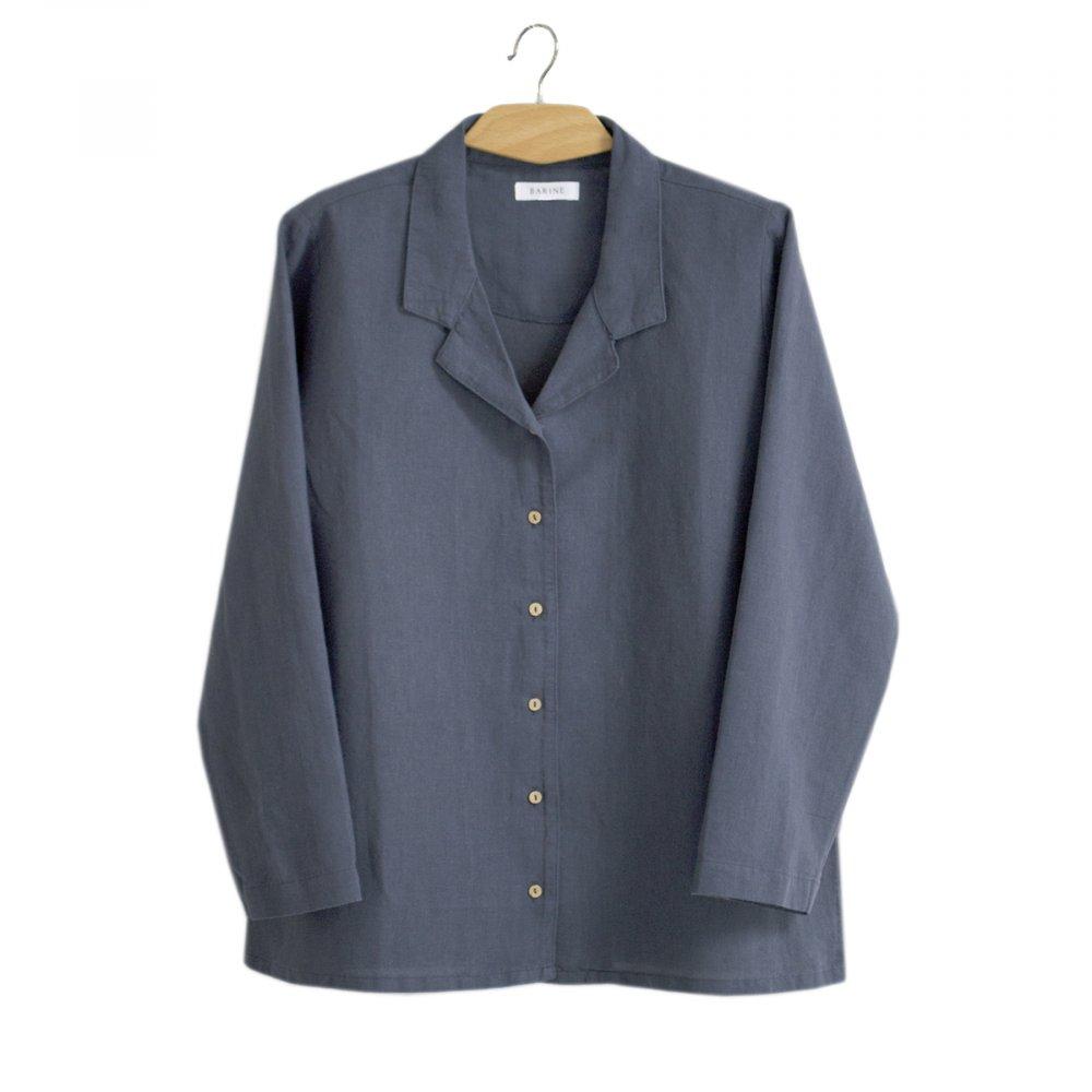 Домашняя рубашка Barine - Lino PJ indigo индиго S