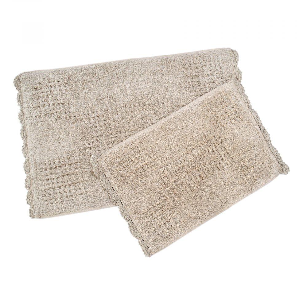 Набор ковриков Irya - Fern pembe розовый 40*60+55*85