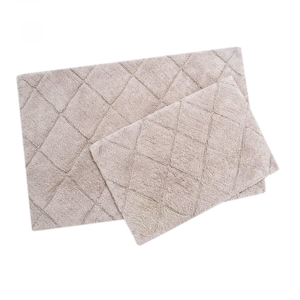 Набор ковриков Irya - Algoma lila лиловый 60*90+40*60