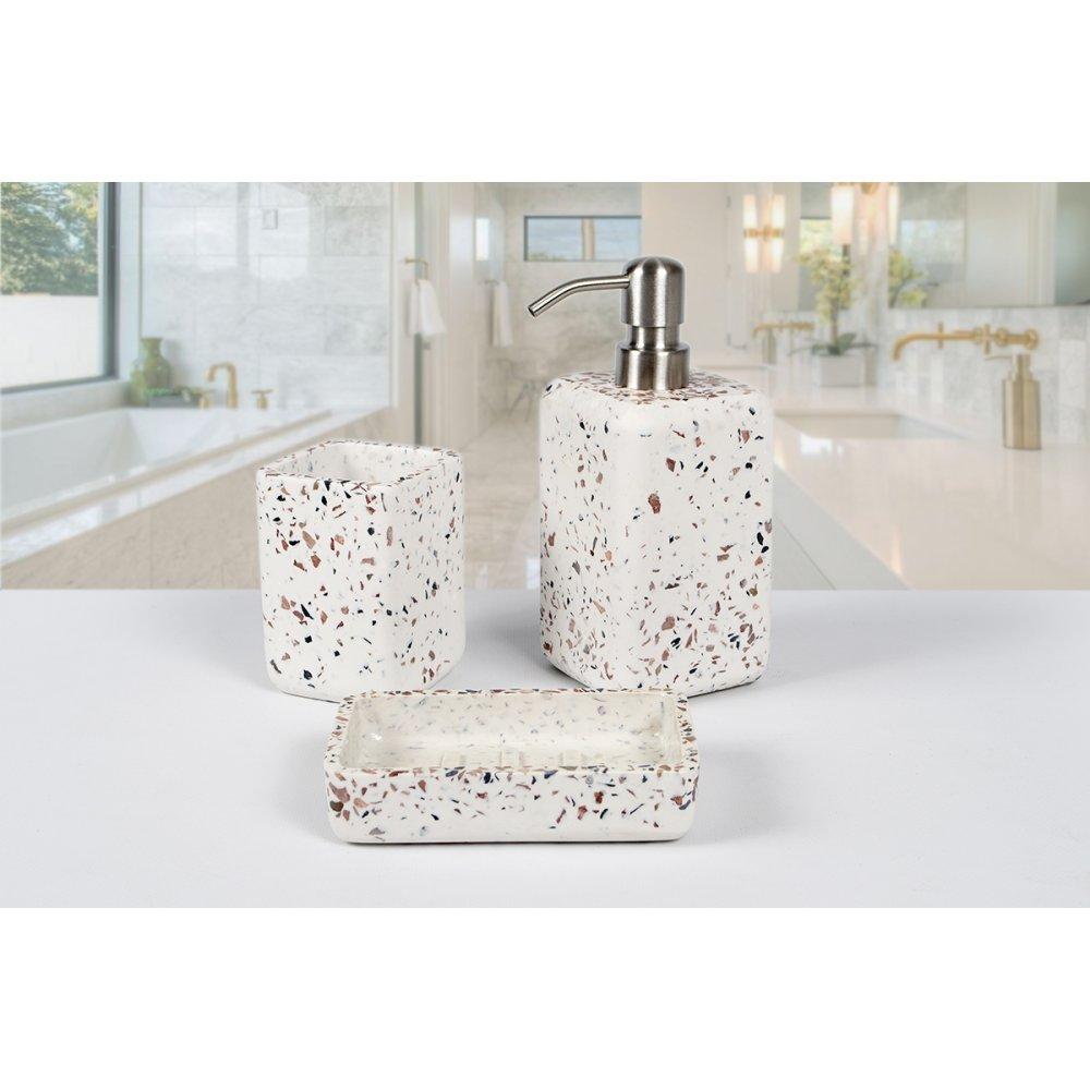 Комплект в ванную Irya - Mozaik beyaz белый (3 предмета)