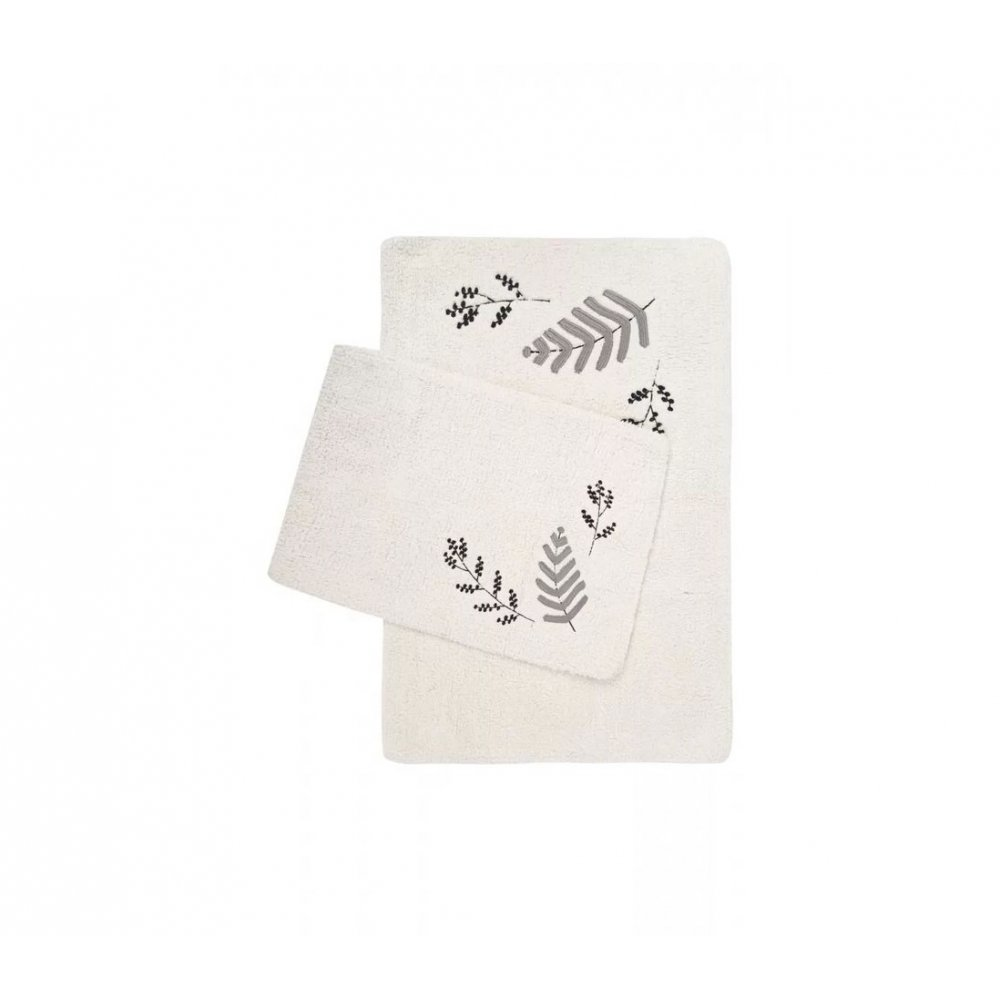 Набор ковриков Irya - Finola gri серый 60*90+40*60