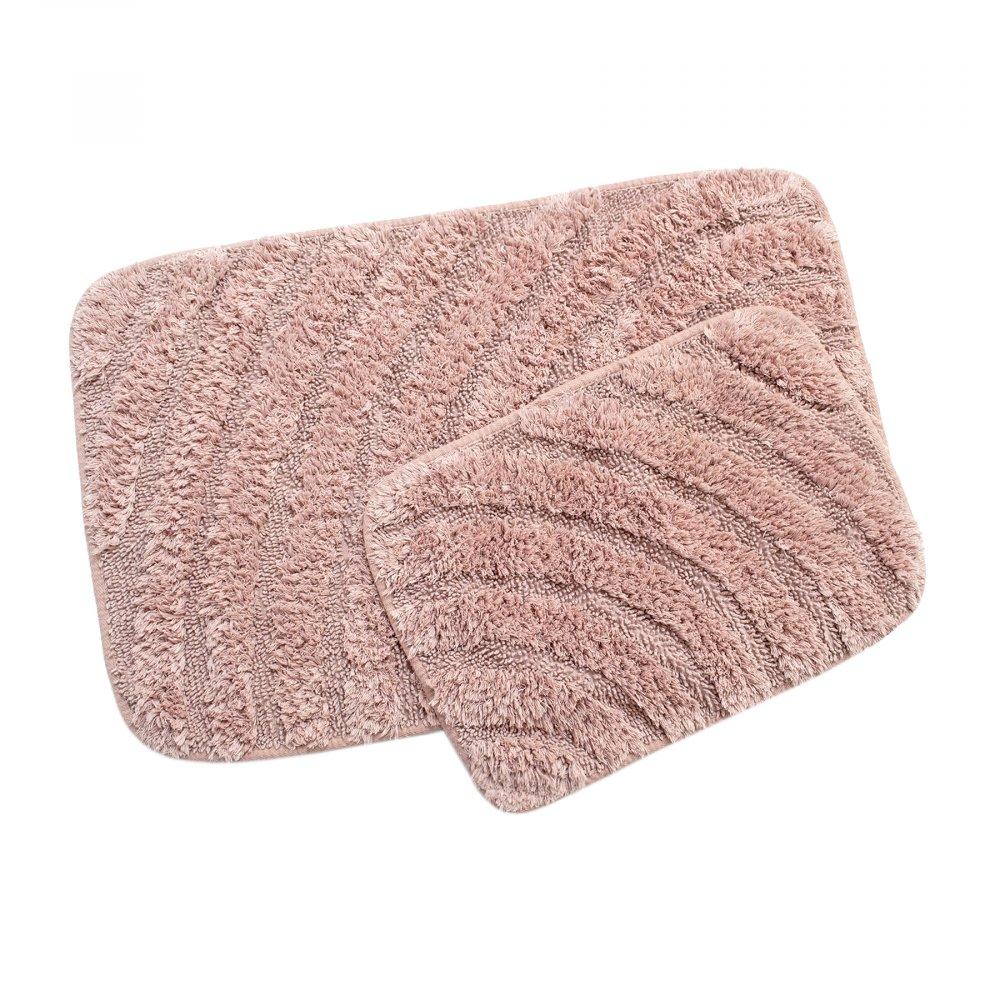 Набор ковриков Irya - Porter gul розовый 60*90+40*60