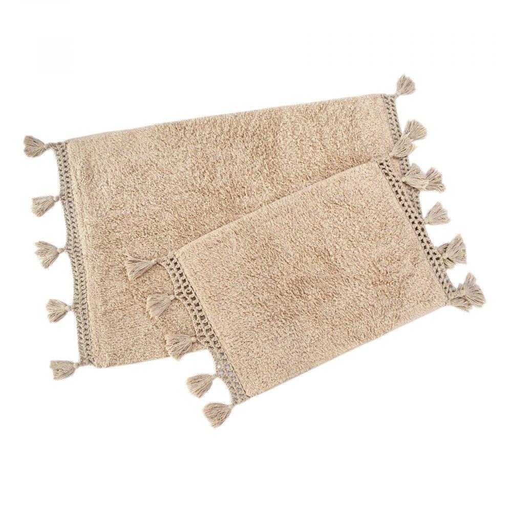 Набор ковриков Irya - Janel bej бежевый 60*90+40*60