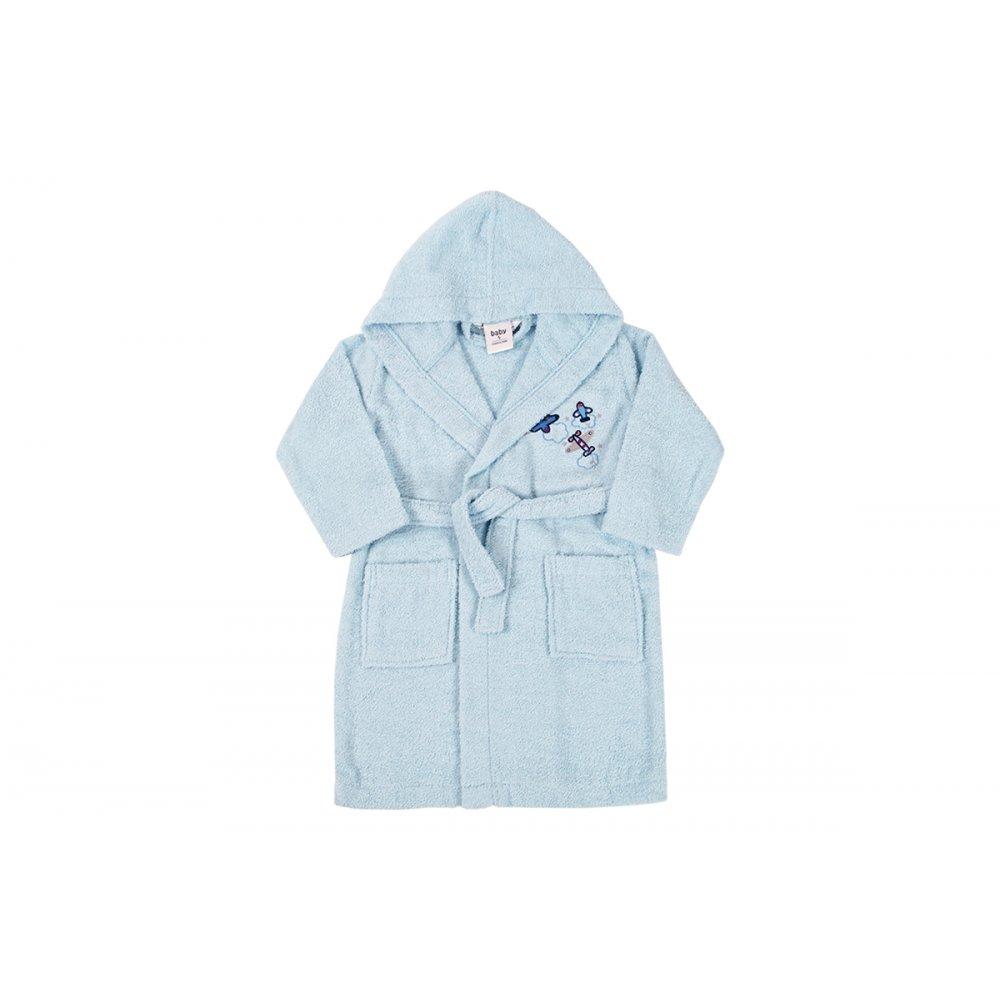 Детский халат Karaca Home - Airship Mavi 2020-2 голубой 4-6 лет