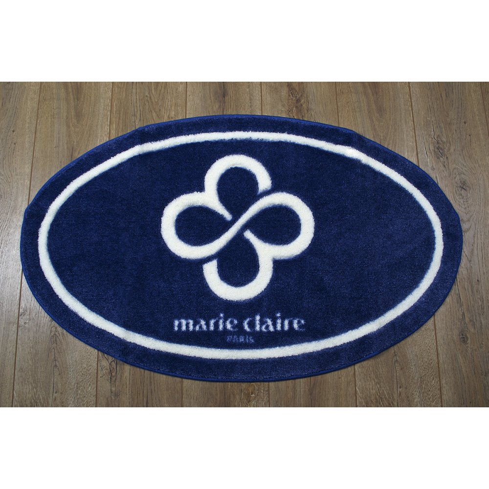 Коврик для ванной Marie Claire - Sally темно синий 66*107 овал
