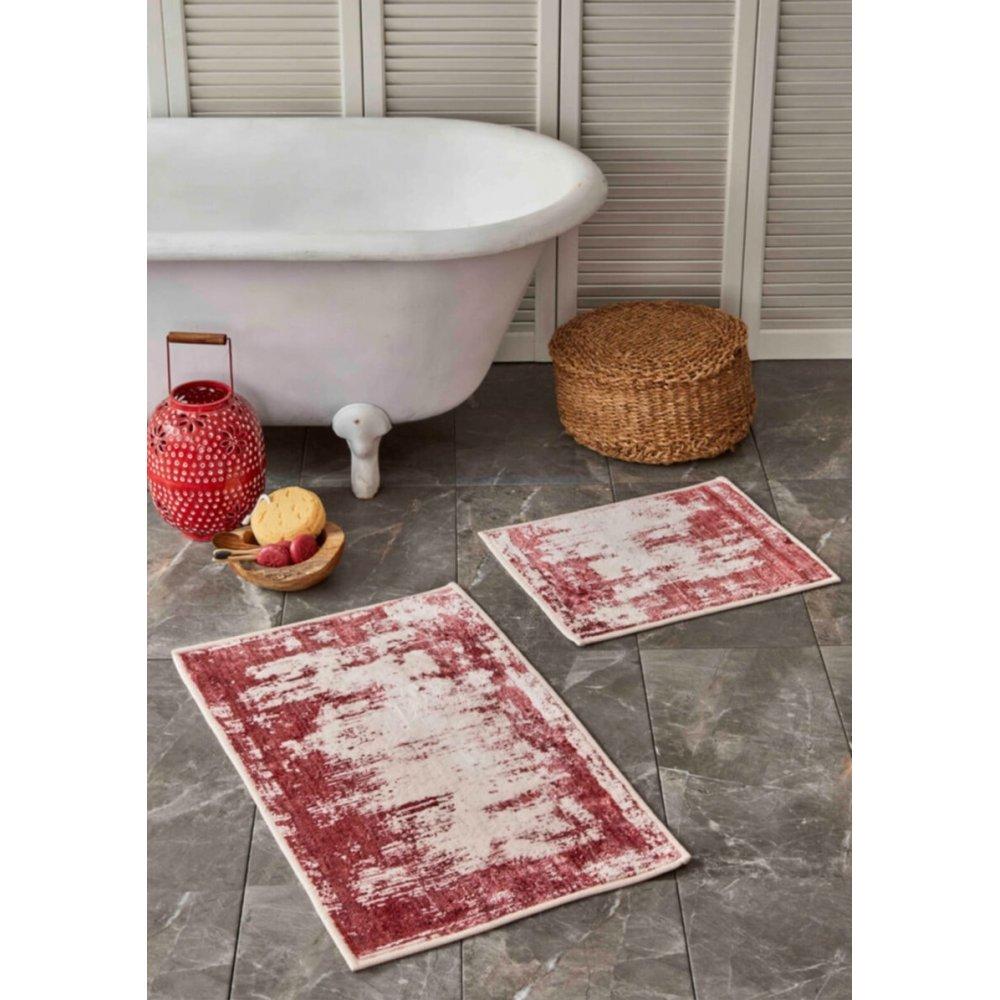 Набор ковриков Sarah Anderson - Lery kirmizi красный 50*80+50*40