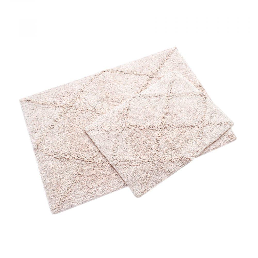 Набор ковриков Irya - Nadia pembe розовый 60*90+40*60