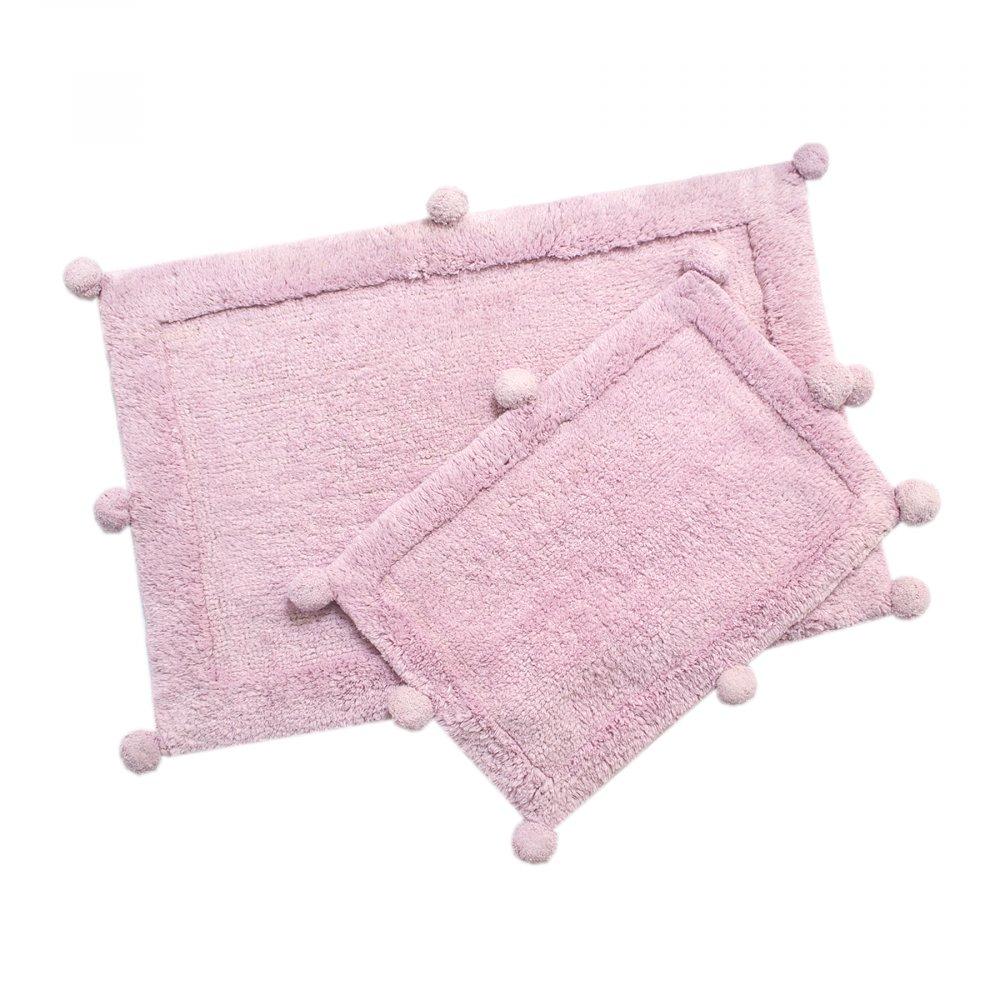 Набор ковриков Irya - New Stria pembe розовый 60*90+40*60