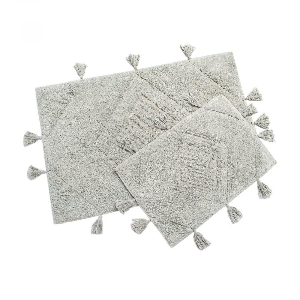 Набор ковриков Irya - Esty gri серый 60*90+40*60