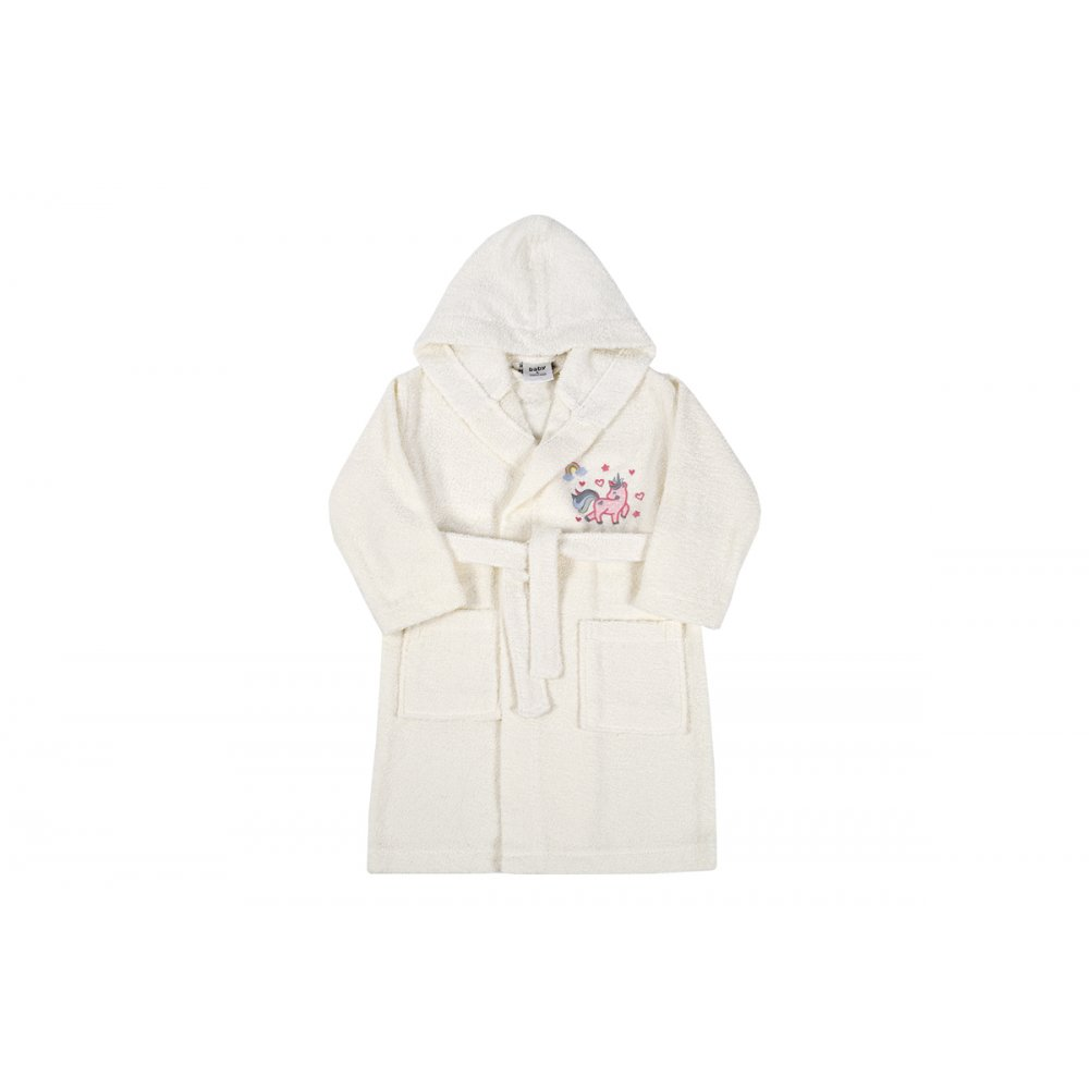 Детский халат Karaca Home - Digna Offwhite 2020-2 кремовый 4-6 лет
