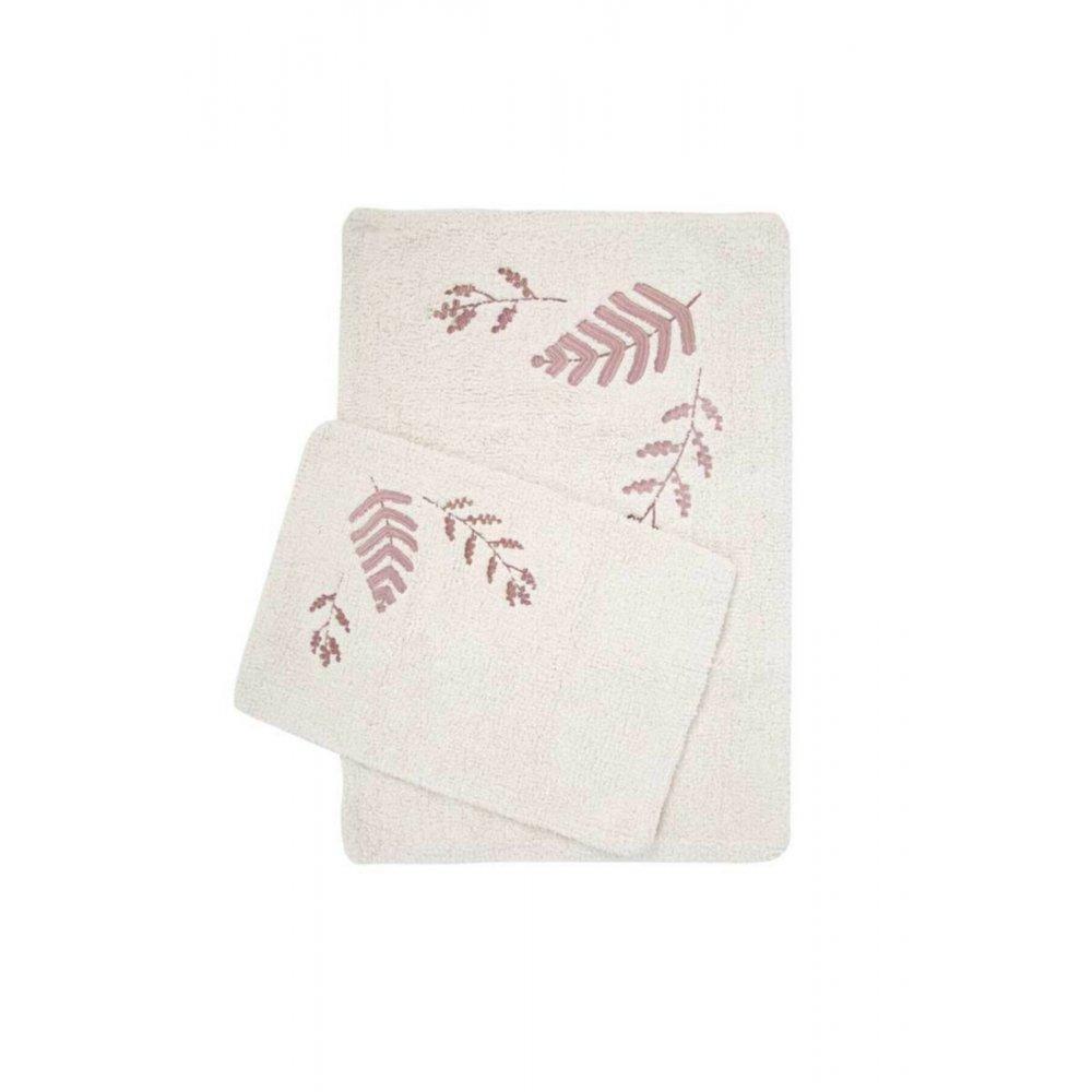 Набор ковриков Irya - Finola gul kurusu розовый 60*90+40*60