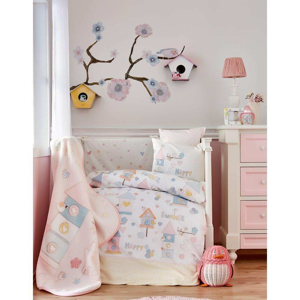 Детский плед в кроватку Karaca Home - Happy 2018-1 100*120