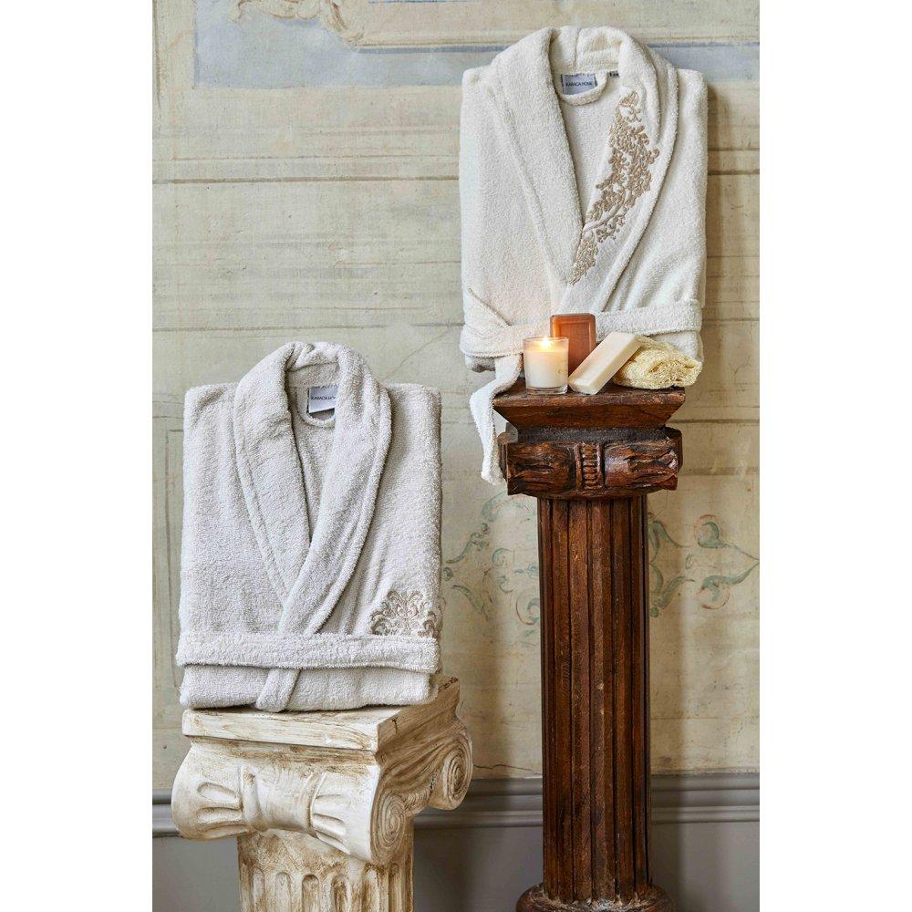Набор халат с полотенцем Karaca Home - Eldora Offwhite-Bej 2020-2 кремовый-бежевый